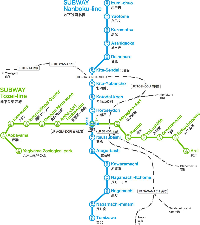 地下鉄 南北線/東西線